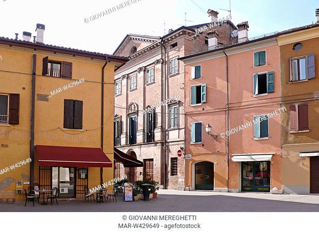 centro cittadino, nonantola, emilia romagna, italia