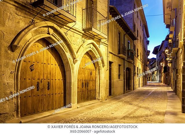 St. James way; San Nicolas street at Estella, Navarra, Spain