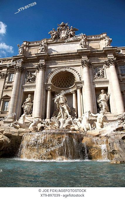The Trevi fountain Rome Lazio Italy