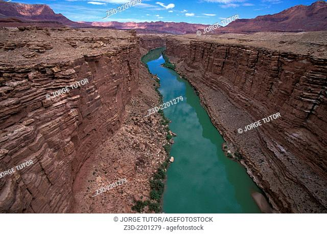 Colorado River near the Grand Canyon Bridge, Arizona, USA