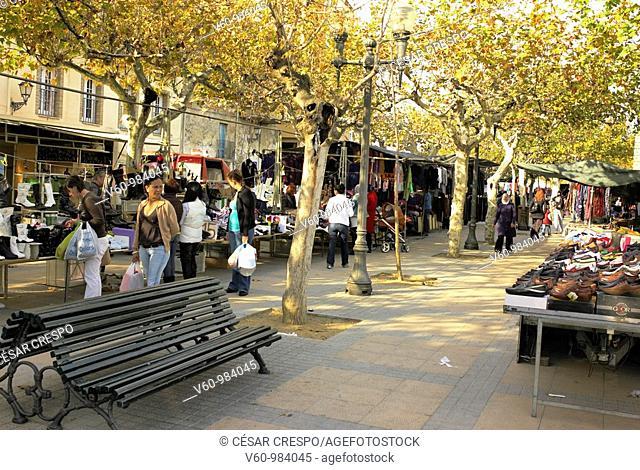 -Traditional Market in Cambrils- Tarragona(Spain)