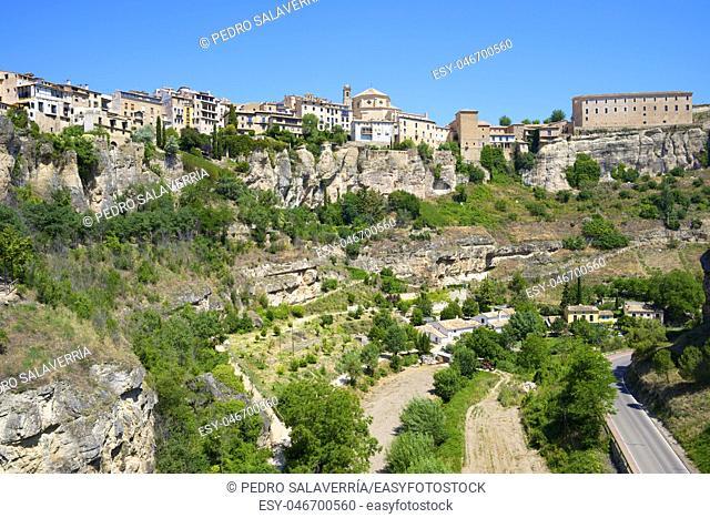 Buildings known as Casas Colgadas in Cuenca, Castilla La Mancha, Spain