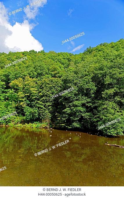 River, Ourthe, Lac de Nisramont, Houffalize Belgium