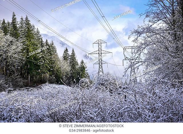 Power Freeze. Wallace Falls, Washington, USA