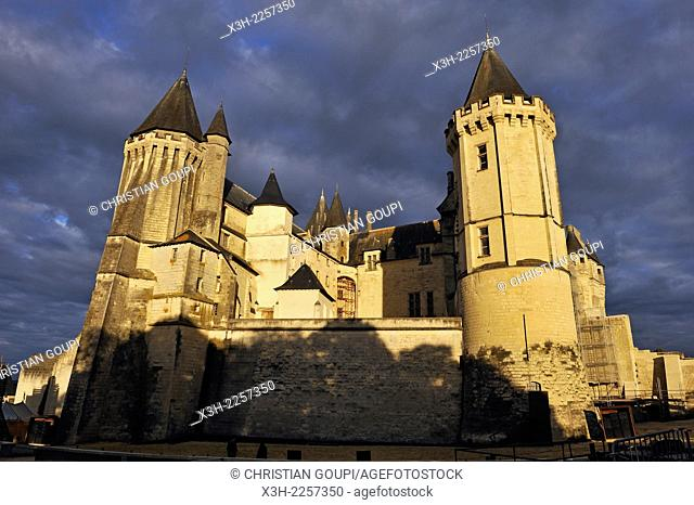 Chateau de Saumur, Maine-et-Loire department, Pays de la Loire region, France, Europe