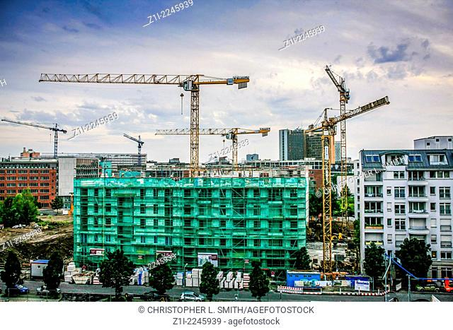 Major construction underway in the old East Berlin of Germany