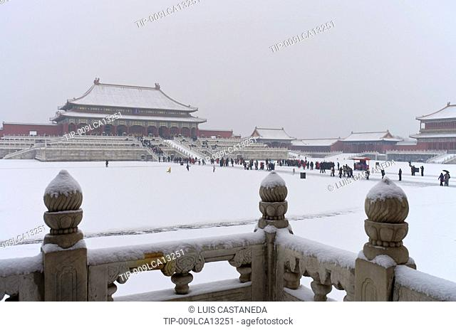 China, Beijing, The Forbidden City, in winter