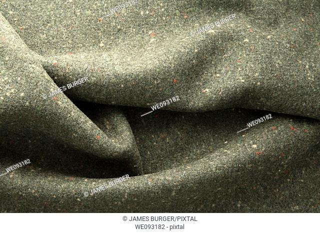 grey fabric with color speckles