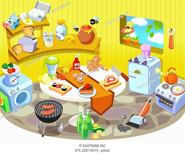 Various household objects