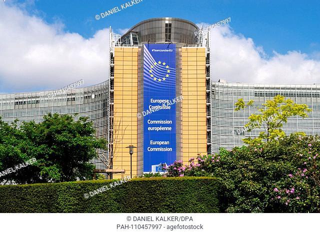 Belgium: The European Commission in Brussels..Photo from 15. Mai 2015. | usage worldwide. - Brüssel/Brüssel-Hauptstadt/Belgium