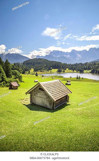 Geroldsee, Gerold, Garmisch-Partenkirchen, Bayern, Germany