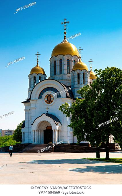 St George The Victorious church on Square of Fame near the Volga bank in Samara
