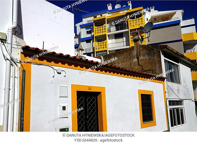 old and modern architecture of old town of Lagos, Algarve, Portugal, Europe