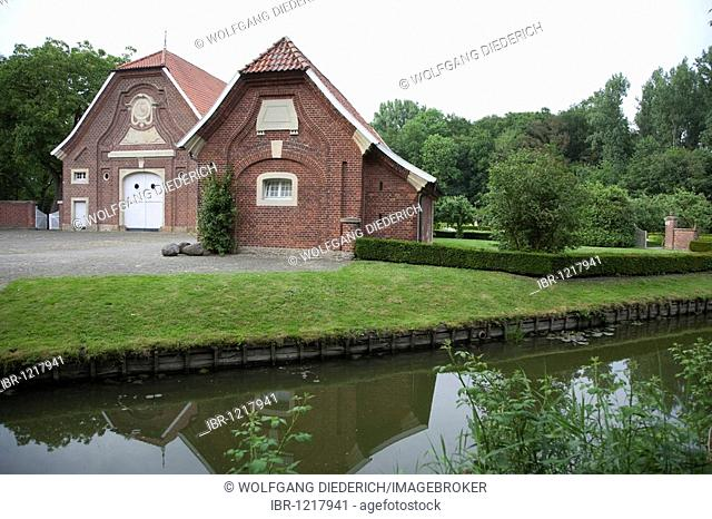 Rueschhaus house, home of the family Droste-Huelshoff, Muenster, Muensterland region, North Rhine-Westphalia, Germany, Europe
