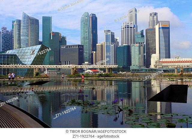 Singapore, Central Business District, skyline, Louis Vuitton Store