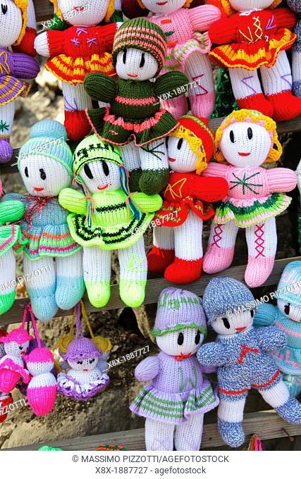 Traditional dools handmade in Masuleh, Iran