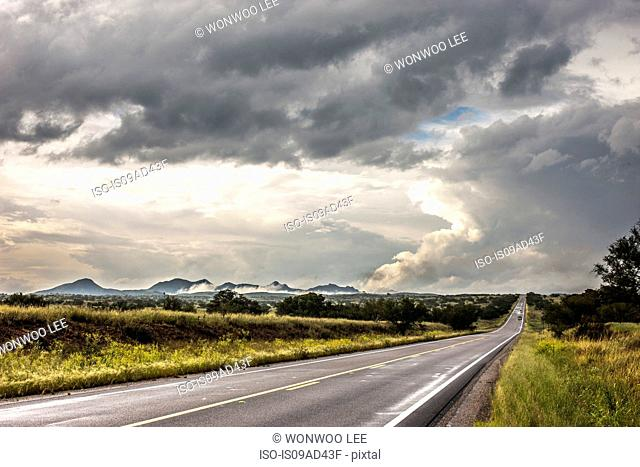 Road through landscape, Tucson, Arizona, USA