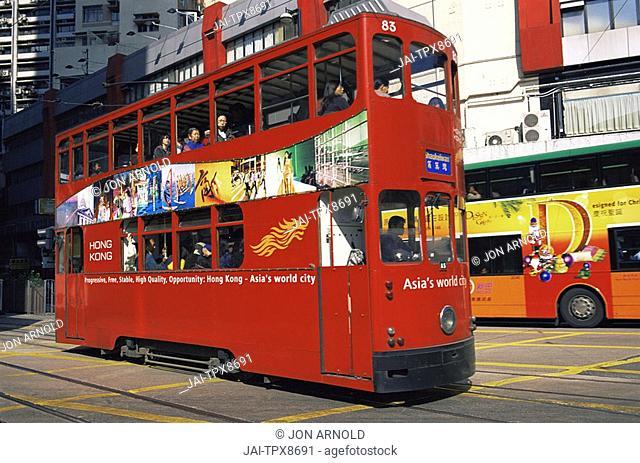 China, Hong Kong, Tram