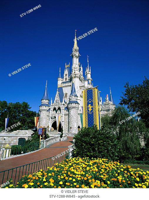 America, Castle, Cinderella, Florida, Holiday, Kingdom, Landmark, Magic, Orlando, Park, Theme, Tourism, Travel, United states, U