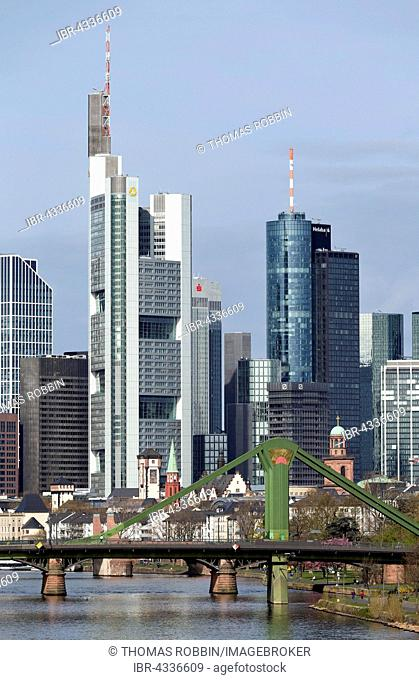 Skyscraper skyline, Financial District, Frankfurt, Hesse, Germany