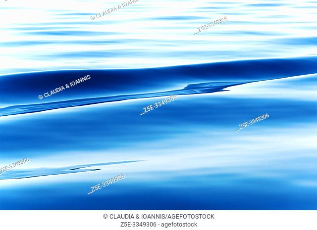 Close up of blue ocean water surface