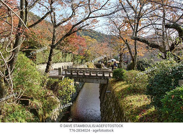 Strolling on the Philosoper's Path, Kyoto, Japan
