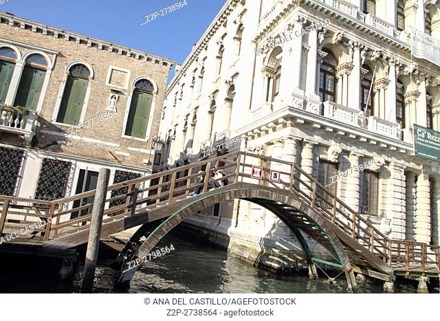 Grand canal and the palaces on January 26, 2015 in Venice Veneto Italy