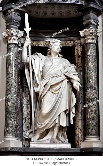 Statue of the apostle Thaddaeus, nave, San Giovanni Basilica in Laterano, Rome, Lazio, Italy, Europe