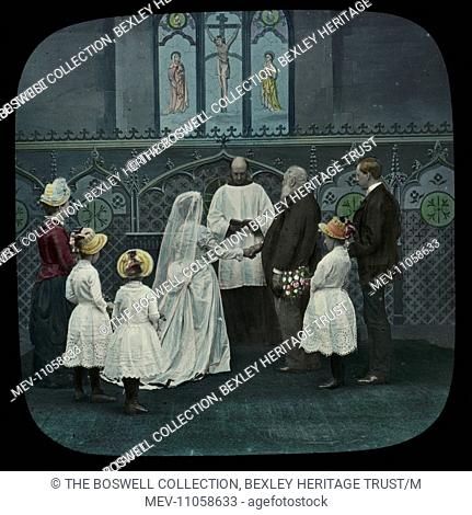 Level Crossing - 5 (Bridal Party) - Wedding scene. Part of Box 52 Boswell collection. Nursery Rhymes