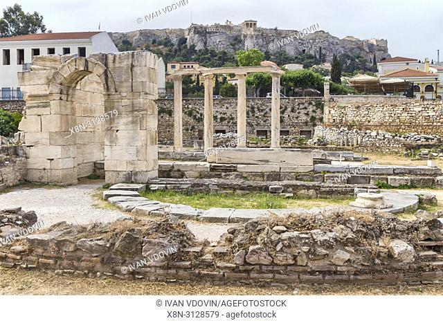 Hadrain's Library (132 AD), Athens, Greece, Athens, Greece
