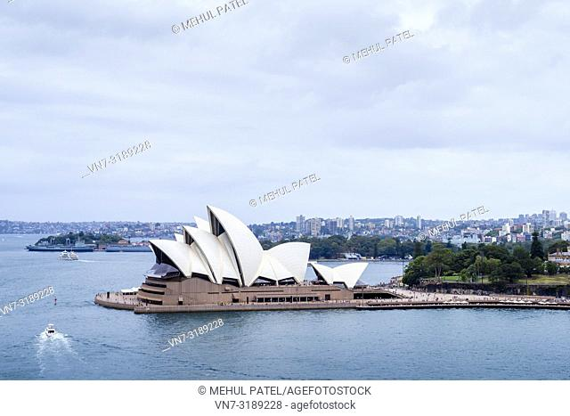 Iconic Sydney Opera House, Sydney Harbour, Sydney, New South Wales, Australia