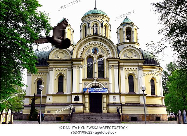 Church of St James, Roman Catholic Church now, previously (until 1946) Orthodox Church, built in Byzantine style, Czestochowa, Silesian Voivodeship
