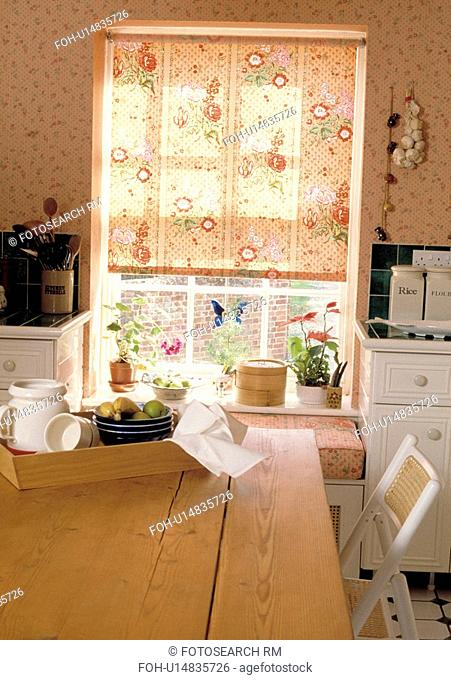 blinds, kitchen, blind, window, blind, chair, detail