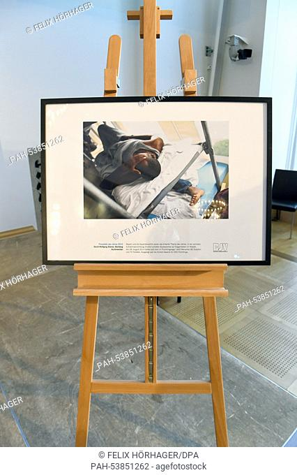 Photographer David-Wolfgang Ebener's winning photo is on display in Munich,Germany, 25 November 2014. Today, he received the award for theBavarian Press Photo...