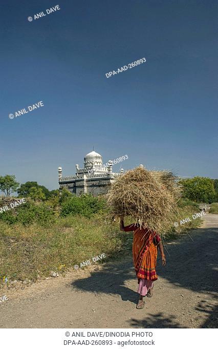 Jami mosque, Naldurg Fort, Osmanabad, Maharashtra, India, Asia