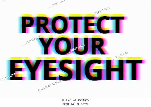 Protect your eyesight illustration backdrop