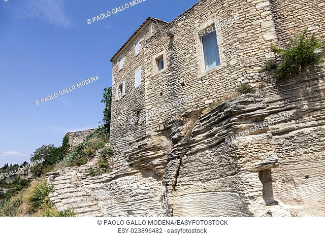 Gordes, Provence Region, France. Local architecture detail, useful to descibe a lifestyle
