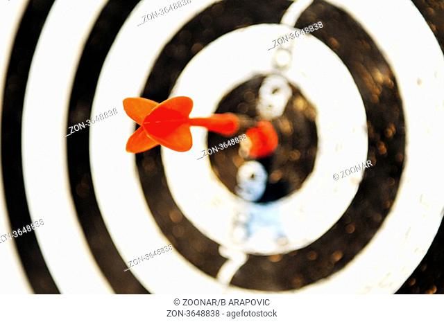 success in marketing and business concept with dart sport game target