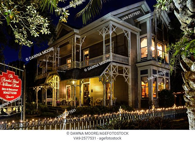 Victorian Home, The Williams House at twilight, Fernandina Beach, Florida