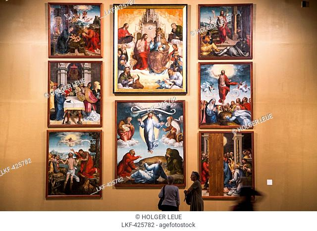 Retable of the Holy Trinity Monastery by Garcia Fernandes (1537) on display at Museo Nacional de Arte Antiguo, National Museum of Ancient Art, in Lapa district