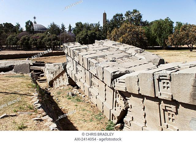 Largest fallen stele, Stele field; Axum, Tigray region, Ethiopia