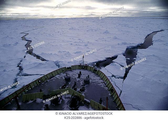 Icebreaker. Weddell Sea. Antarctica