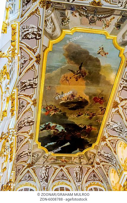 Ceiling Painting The Winter Palace St. Petersburg Russia