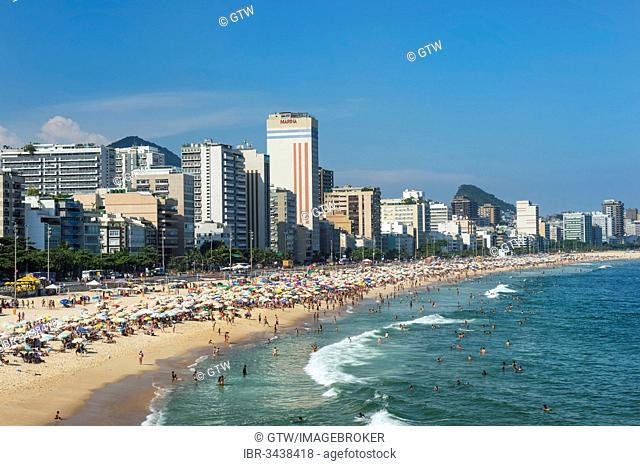 Leblon beach, Rio de Janeiro, Rio de Janeiro State, Brazil
