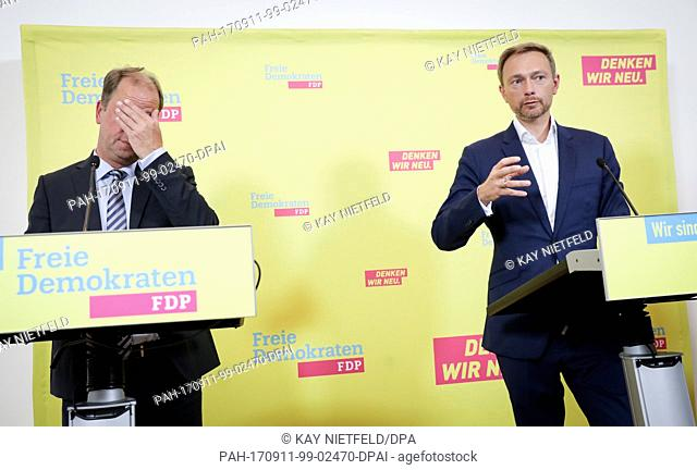 The leading candidate for the parliamentary elections of the FDP, Christian Lindner and the minister for integration, youth