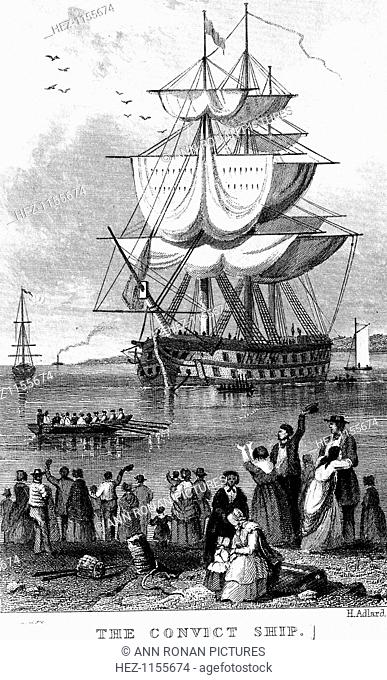 The convict ship Stock Photos and Images | age fotostock