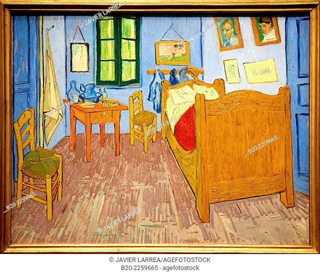La chambre de Van gogh a Arles 1889, Vincent Van Gogh. Musée d'Orsay. Orsay Museum. Paris. France