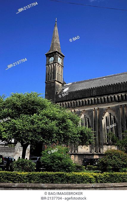 Anglican Church of Christ, Mkunazini Road, at the Old Slave Market, Stone Town, Zanzibar, Tanzania, Africa