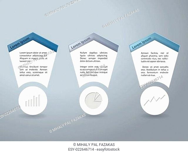 Infographics set with chart elements