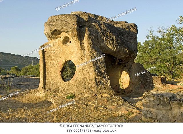 Ediculo and necropolis of Villanueva Soportilla, Burgos, Castilla y Leon, Spain